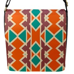 Rhombus Triangles And Other Shapes			flap Closure Messenger Bag (s) by LalyLauraFLM