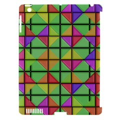 3d Rhombus Pattern			apple Ipad 3/4 Hardshell Case (compatible With Smart Cover) by LalyLauraFLM