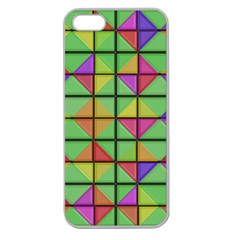 3d Rhombus Pattern			apple Seamless Iphone 5 Case (clear) by LalyLauraFLM