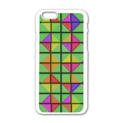 3d Rhombus Pattern			apple Iphone 6/6s White Enamel Case by LalyLauraFLM