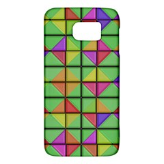 3d Rhombus Pattern			samsung Galaxy S6 Hardshell Case by LalyLauraFLM