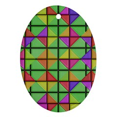 3d Rhombus Pattern			ornament (oval) by LalyLauraFLM