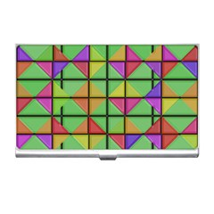 3d Rhombus Pattern			business Card Holder by LalyLauraFLM