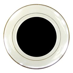 Black Gothic Porcelain Plates by Costasonlineshop