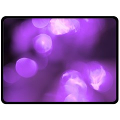 Purple Circles Double Sided Fleece Blanket (large)  by timelessartoncanvas