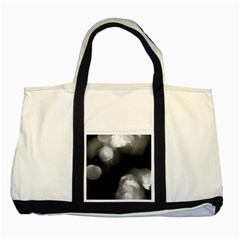Black And White Circle Two Tone Tote Bag  by timelessartoncanvas