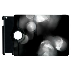 Black And White Circle Apple Ipad 3/4 Flip 360 Case by timelessartoncanvas