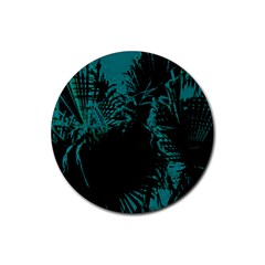 Palm Designs Rubber Round Coaster (4 Pack)  by timelessartoncanvas