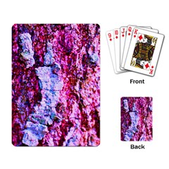 Purple Tree Bark Playing Card by timelessartoncanvas