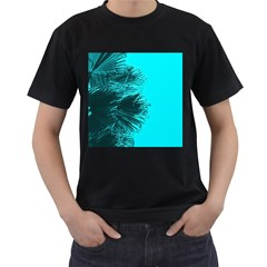 Modern Palm Leaves Men s T Shirt (black) (two Sided) by timelessartoncanvas