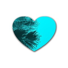 Modern Palm Leaves Heart Coaster (4 Pack)  by timelessartoncanvas