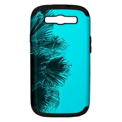 Modern Palm Leaves Samsung Galaxy S Iii Hardshell Case (pc+silicone) by timelessartoncanvas