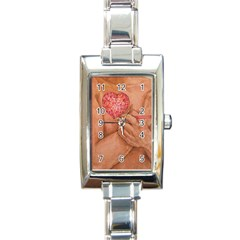 Embrace Love  Rectangle Italian Charm Watches by KentChua