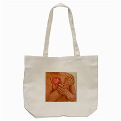 Embrace Love  Tote Bag (cream)  by KentChua