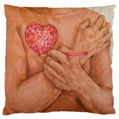 Embrace Love  Standard Flano Cushion Cases (two Sides)  by KentChua