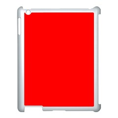 Trendy Red  Apple Ipad 3/4 Case (white) by Costasonlineshop