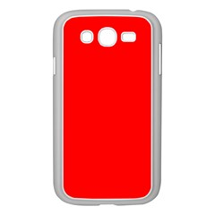 Trendy Red  Samsung Galaxy Grand Duos I9082 Case (white) by Costasonlineshop