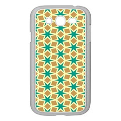 Stars And Squares Pattern			samsung Galaxy Grand Duos I9082 Case (white) by LalyLauraFLM