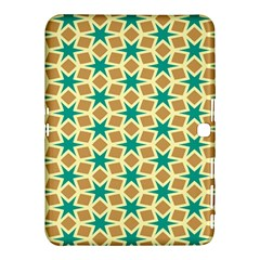 Stars And Squares Pattern			samsung Galaxy Tab 4 (10 1 ) Hardshell Case by LalyLauraFLM
