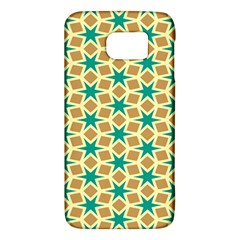 Stars And Squares Pattern			samsung Galaxy S6 Hardshell Case by LalyLauraFLM