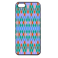 Pastel Rhombus Pattern			apple Iphone 5 Seamless Case (black) by LalyLauraFLM