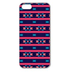 Stripes And Other Shapes Pattern			apple Seamless Iphone 5 Case (clear) by LalyLauraFLM