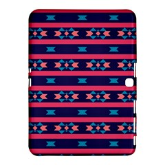 Stripes And Other Shapes Pattern			samsung Galaxy Tab 4 (10 1 ) Hardshell Case by LalyLauraFLM