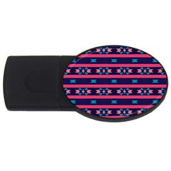Stripes And Other Shapes Pattern 			usb Flash Drive Oval (2 Gb) by LalyLauraFLM