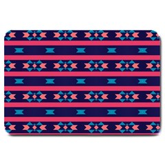 Stripes And Other Shapes Pattern 			large Doormat by LalyLauraFLM