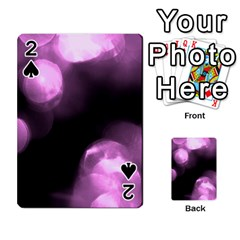 Purple Circles No  2 Playing Cards 54 Designs  by timelessartoncanvas