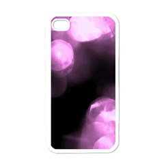 Purple Circles No  2 Apple Iphone 4 Case (white) by timelessartoncanvas