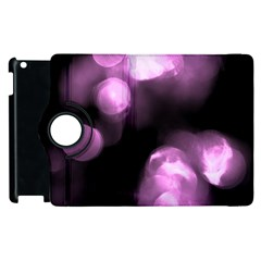 Purple Circles No  2 Apple Ipad 2 Flip 360 Case by timelessartoncanvas