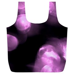Purple Circles No  2 Full Print Recycle Bags (l)  by timelessartoncanvas