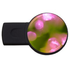 Pink And Green Circles Usb Flash Drive Round (2 Gb)  by timelessartoncanvas
