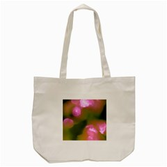 Pink And Green Circles Tote Bag (cream)  by timelessartoncanvas