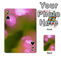 Pink And Green Circles Playing Cards 54 Designs