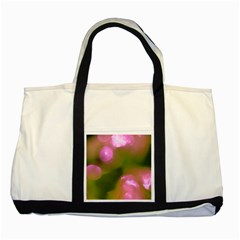 Pink And Green Circles Two Tone Tote Bag  by timelessartoncanvas
