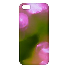Pink And Green Circles Iphone 5s Premium Hardshell Case by timelessartoncanvas
