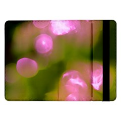 Pink And Green Circles Samsung Galaxy Tab Pro 12 2  Flip Case by timelessartoncanvas