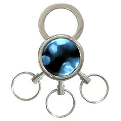 Blue Circles 3 Ring Key Chains by timelessartoncanvas