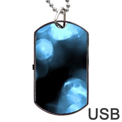 Blue Circles Dog Tag Usb Flash (two Sides)  by timelessartoncanvas