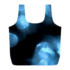 Blue Circles Full Print Recycle Bags (l)  by timelessartoncanvas