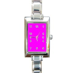 Trendy Purple  Rectangle Italian Charm Watches by Costasonlineshop