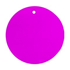 Trendy Purple  Round Ornament (two Sides)  by Costasonlineshop