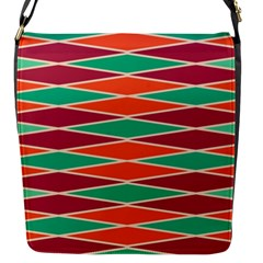 Distorted Rhombus Pattern 			flap Closure Messenger Bag (s) by LalyLauraFLM
