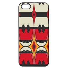 Rhombus Ovals And Stripes			apple Iphone 5 Seamless Case (black) by LalyLauraFLM