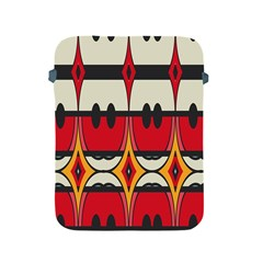 Rhombus Ovals And Stripes			apple Ipad 2/3/4 Protective Soft Case by LalyLauraFLM