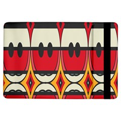 Rhombus Ovals And Stripes			apple Ipad Air Flip Case by LalyLauraFLM