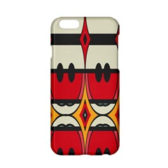 Rhombus Ovals And Stripes			apple Iphone 6/6s Hardshell Case by LalyLauraFLM