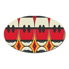 Rhombus Ovals And Stripes 			magnet (oval) by LalyLauraFLM
